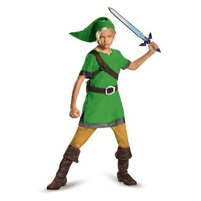 Disguise Legend Of Zelda Link Classic Kids Boys Child Halloween Costume 85718 - Zelda Halloween Costume Link