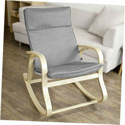 FST15-DG, Comfortable Relax Rocking Chair, Lounge Chair Relax Chair Cushion