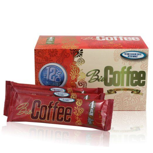 """BIO COFFEE """"THE HEALTHIEST COFFEE IN THE WORLD """"16""""  SACHETS IN EACH BOX"""