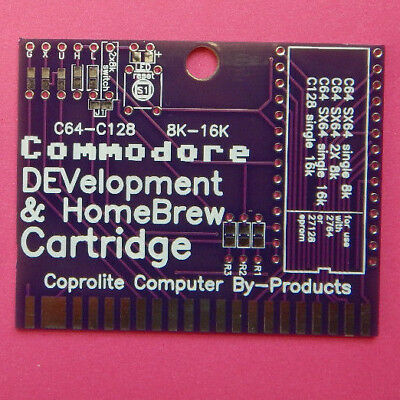 Commodore 64 C64 C128 NEW bare HomeBrew DEVelopment cartridge  board 8k 16k