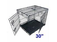 "30"" Folding Dog Cage Crate"