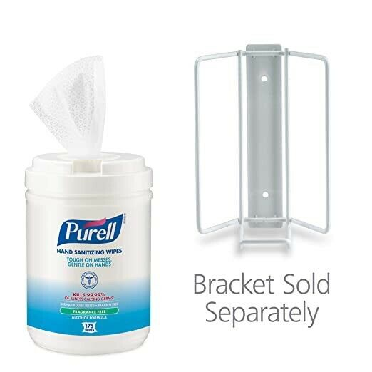 1Purell Alcohol Formula 175 Count Wipes /Canister Fragrance Free