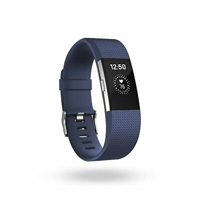 Fitbit Charge 2 Heart Rate + Fitness Wristband, Blue, Large