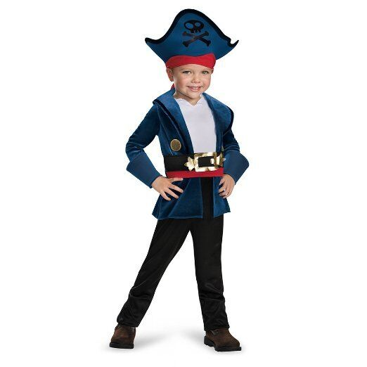 Boys Captain Jake Costume Neverland Pirates Halloween Pirate Toddler Child Kids