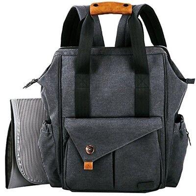 HapTim Baby Diaper Bag Backpack W/Stroller Straps- Multi-function Designer diape