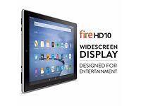 """*NEW SEALED* Fire HD 10 Tablet 10.1"""" HD Display Wi-Fi 16 GB - Silver"""