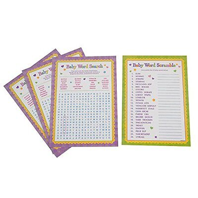 Baby Shower Word Search Scramble Games Party Activities 24 Playing Sheets