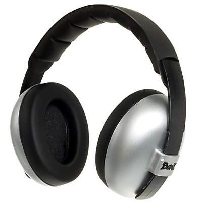 Baby Banz mini Earmuffs Hearing Protection 0-2 Silver  for sale  New Providence