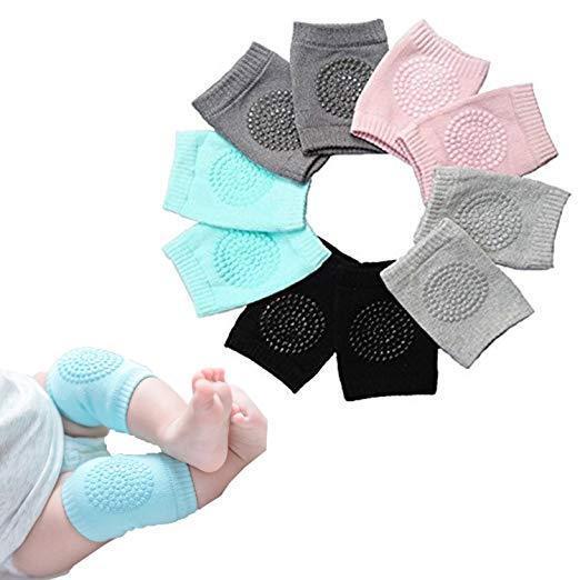 5 Pairs NEW Baby Crawling Knee Pads Safety Anti-slip Walking Leg Elbow Protector