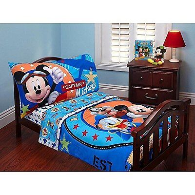 Disney Mickey Mouse 4 Piece Toddler Bed Set