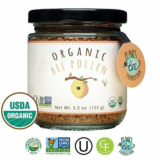 GREENBOW Organic Bee Pollen - 100% Certified Organic & NonGMO_5.5oz Jar