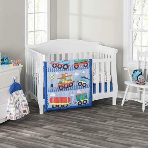 Everyday Kids 3 Piece Boys Crib Bedding Set - Choo Choo Trai