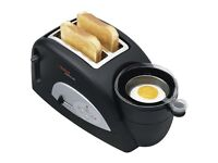 *BRAND NEW BOXED* Tefal TT550015 Toast and Egg Two Slice Toaster and Egg Maker, 1200 W - Black