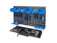 BiGDUG Garage Shed Workshop Wall Tool Storage Rack Kit Inc 50 Tool Hooks Storage