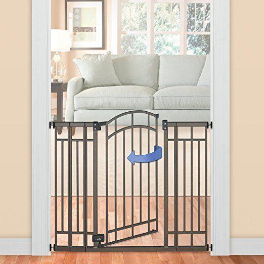 Extra Tall Walk Thru Safety Gate Pet Dog Toddler Baby Child