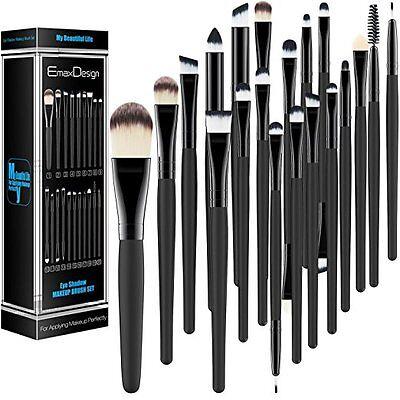 Professional Makeup Brush Set Goat Sephora Brushes Cosmetic Tools Eyeshadow 20Pc