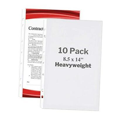 Legal Size Sheet Protector - Heavyweight 10 Pack 10 Pack Heavyweight