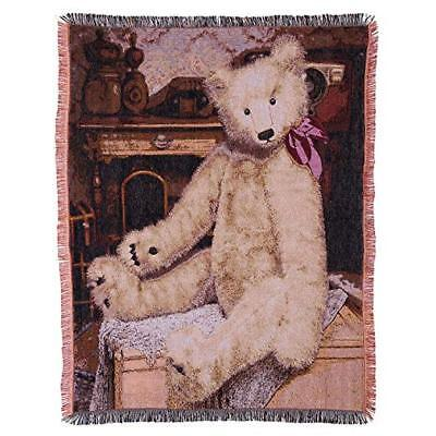 Gund Baby Teddy Bear Throw Blanket, Tapestry ()