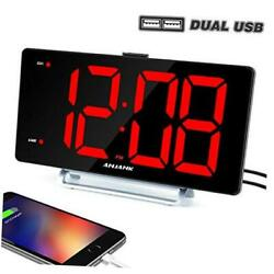 9 Digital Alarm Clock with Large LED Display,Big Number Easy to Read for Senior