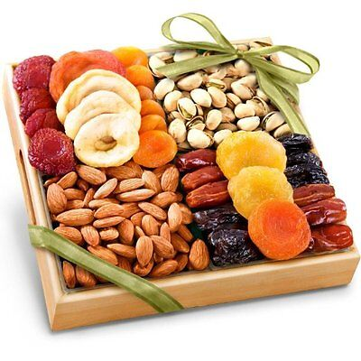 Friend Office Dried Fruits Nuts Healthy Gift Wood Tray Ba...