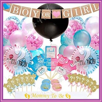 Gender Party Decorations (Gender Reveal Party Supplies (103pc)   Baby Shower Gender Reveal Decorations)