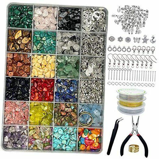 Jewelry Making Kit - 1587 PCS Beads for Jewelry Making, Jewelry Making