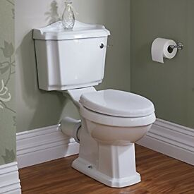 Shabby Chic vintage look traditional toilet