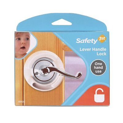 Safety 1st French Door Lever Handle Baby Proof Child Lock - One Hand Use - 72304