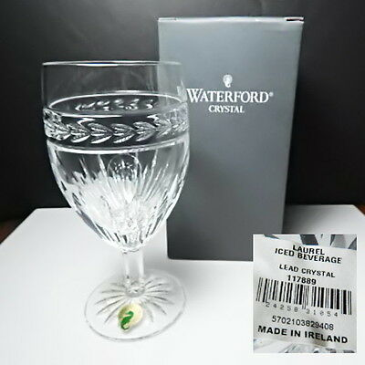Laurel Iced (Waterford Crystal LAUREL Iced Beverage Glass, NEW in Box, Made in Ireland)