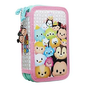 Disney Tsum Tsum Deluxe Pencil Case Playset, 8-Pack **Brand New*