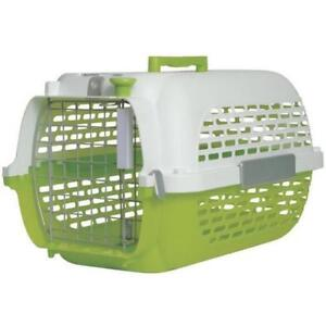 Green and White Cat Carrier