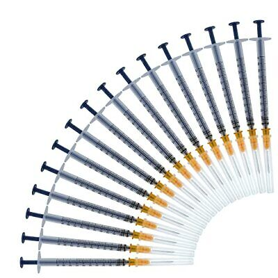 100pack-1ml Syringe With 25g 58 Inch Disposable Sterile Syringe - 1cc Sterile
