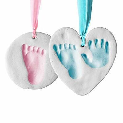 Baby Handprint Footprint Clay Ornament Kit Newborn Infant Keepsake Nursery Decor - Baby Handprint Ornament