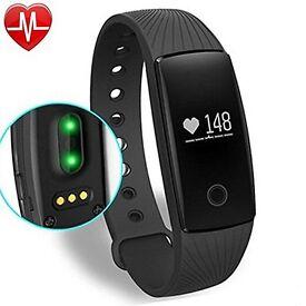 YAMAY® Fitness Tracker with Heart Rate Monitor,Bluetooth Smart Wristband NEW