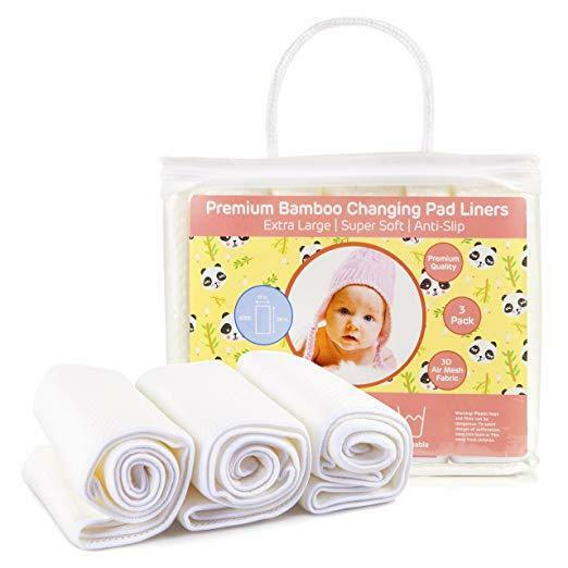 Baby Diaper Changing Pad Liners: 3 Pack Large Waterproof Por