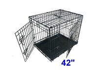 "Dog crate 42"" Ellie Bo used once new !"