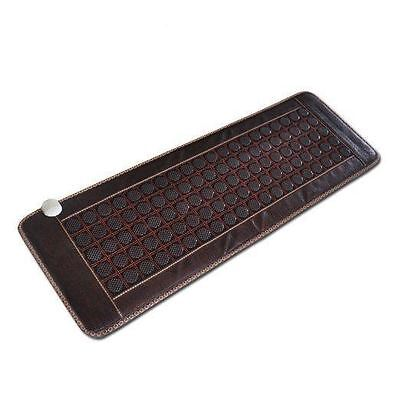 "NO.1 LIST Far-infrared Heat Therapy Healing Jade Mat/Pad/Mattress(""19x 59"")Brown"