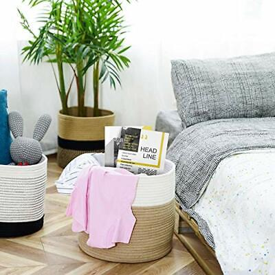 Baby Nursery Basket for Laundry, Toys, Woven Blankets Basket 15 X 15 X 14 -