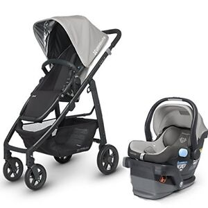 Uppababy Cruz stroller with Peg-Perego car set 4-35.New frame