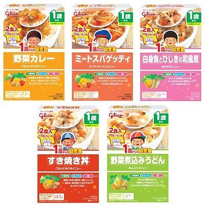 NEW Glico Infant food assorted 5-pack from the 1-year-old  Japan import F/S