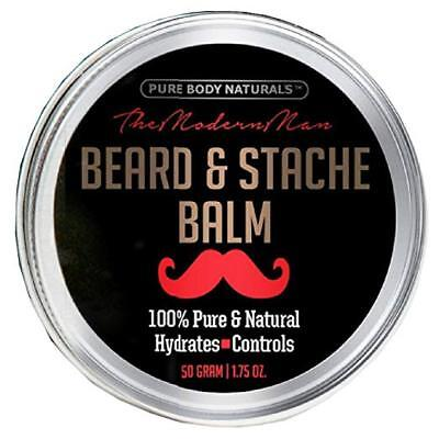 (Natural beard balm for men Softening beard care by Pure Body naturals)