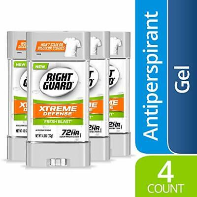 Gel Fresh Blast - Right Guard Xtreme Defense 5 Antiperspirant Deodorant Gel, Fresh Blast, 4 Pack