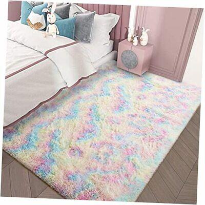 Girls Rug for Bedroom Kids Room 3 x 5 Feet Luxury Fluffy, Super Soft 3x5 feet