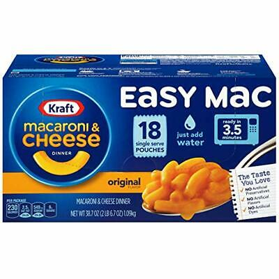 Kraft Easy Mac Macaroni and Cheese Dinner, 18 Microwaveable Single Serve (Microwave Macaroni And Cheese)