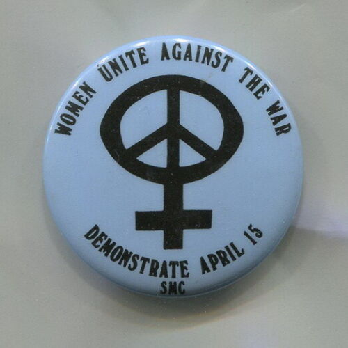 April 15, 1970  WOMEN  Demonstrate against Vietnam War  Protest Cause Peace  Pin