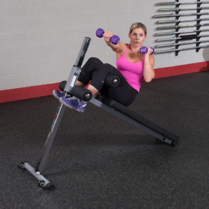 Body Solid Ab Board Core Bench Sit Up Crunch no dumbbell weight