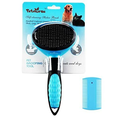 Self-Cleaning Pet Slicker Brushes for Dogs and Cats,Suitable for All Hair Types