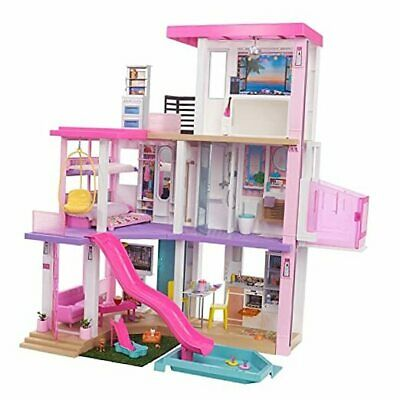Dreamhouse (3.75-ft) 3-Story Dollhouse Playset with Pool & Slide, Party Room,