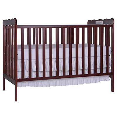 (Baby Crib Toddler Bed 3in1 Convertible in Cherry Solid Wood with Child Safety )