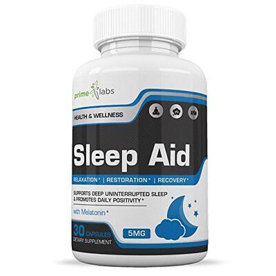 Natural Sleep Aid Supplement :: Fast Acting Melatonin 5mg for Better Sleep